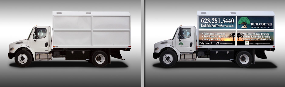 Truck Wrap Before and After